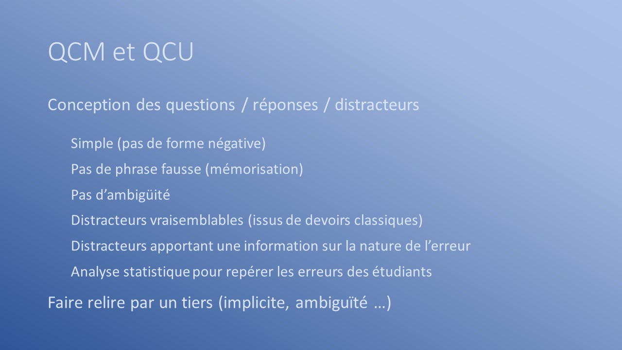 conception des questions